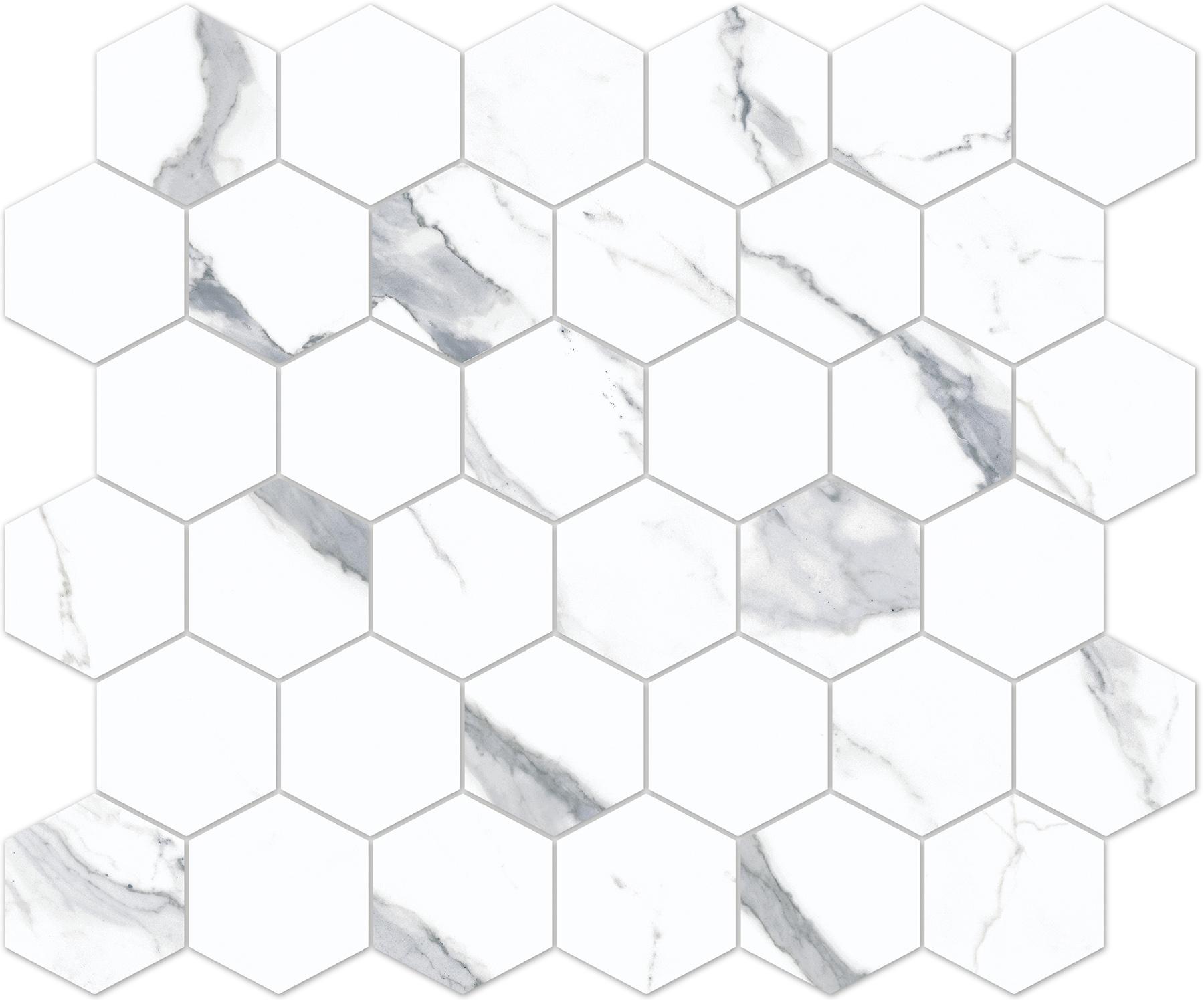 8881/720, Bernini Stone, Valkoinen, lattia,mosaiikki