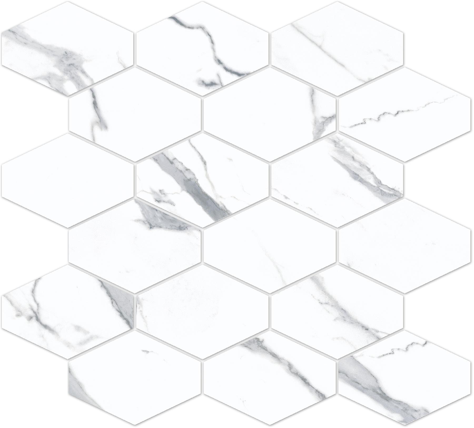 8881/820, Bernini Stone, Valkoinen, lattia,mosaiikki