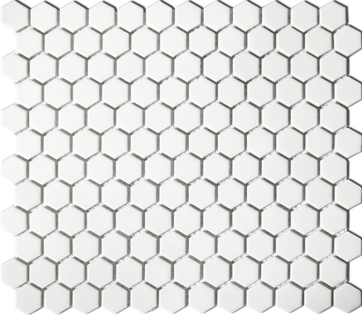 HX050[OUTLET], Hexagon, Valkoinen, lattia,mosaiikki
