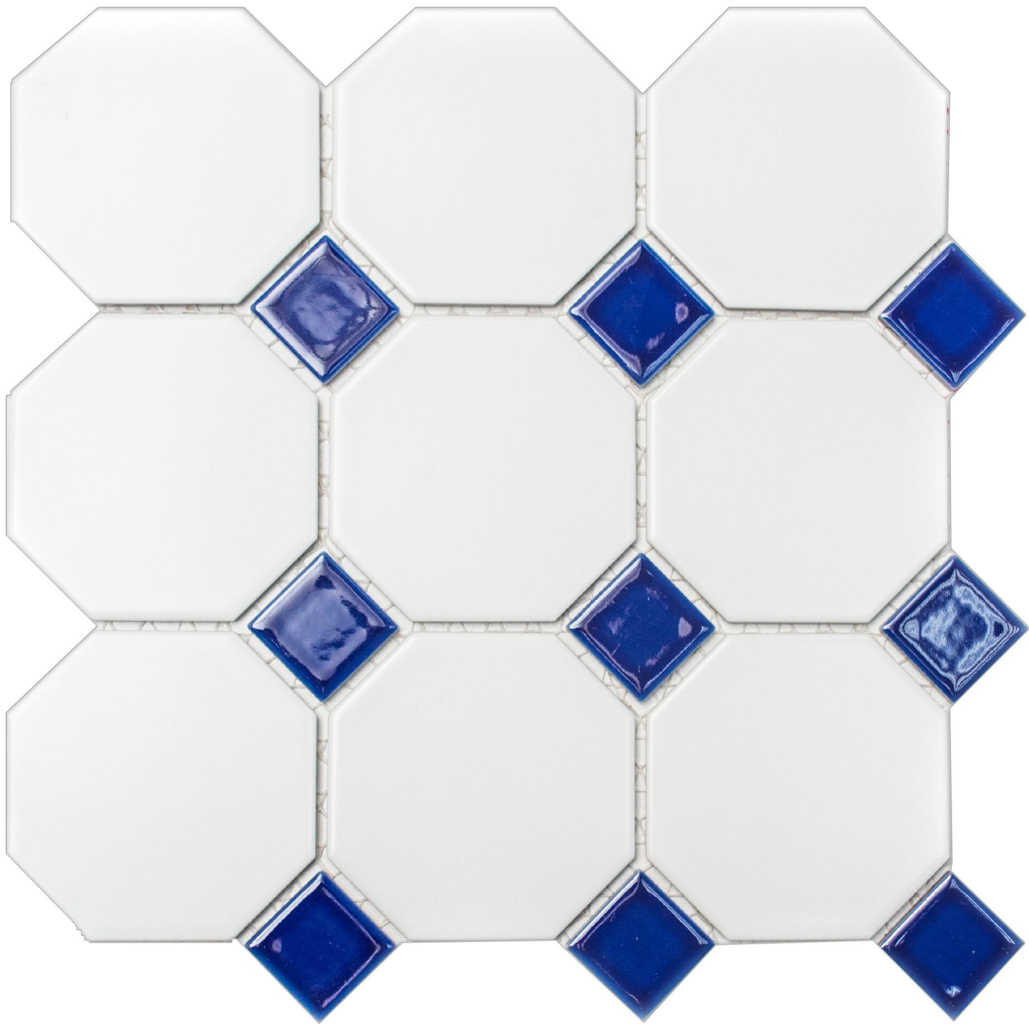 OCTAG944N, Octagon, Valkoinen, mosaiiikki,lattia,pakkasenkesto