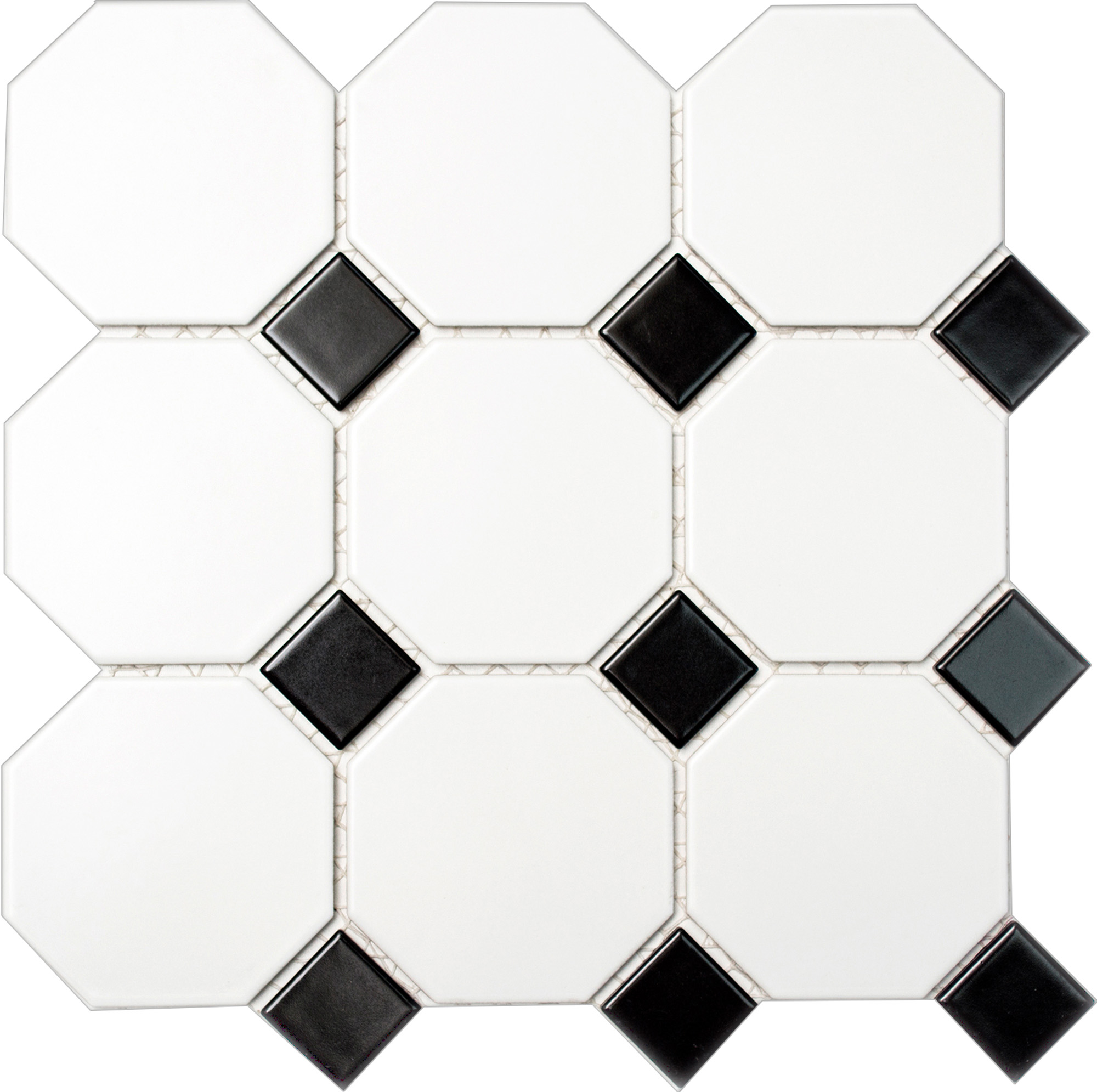 OCTAG948N, Octagon, Valkoinen, mosaiiikki,lattia,pakkasenkesto