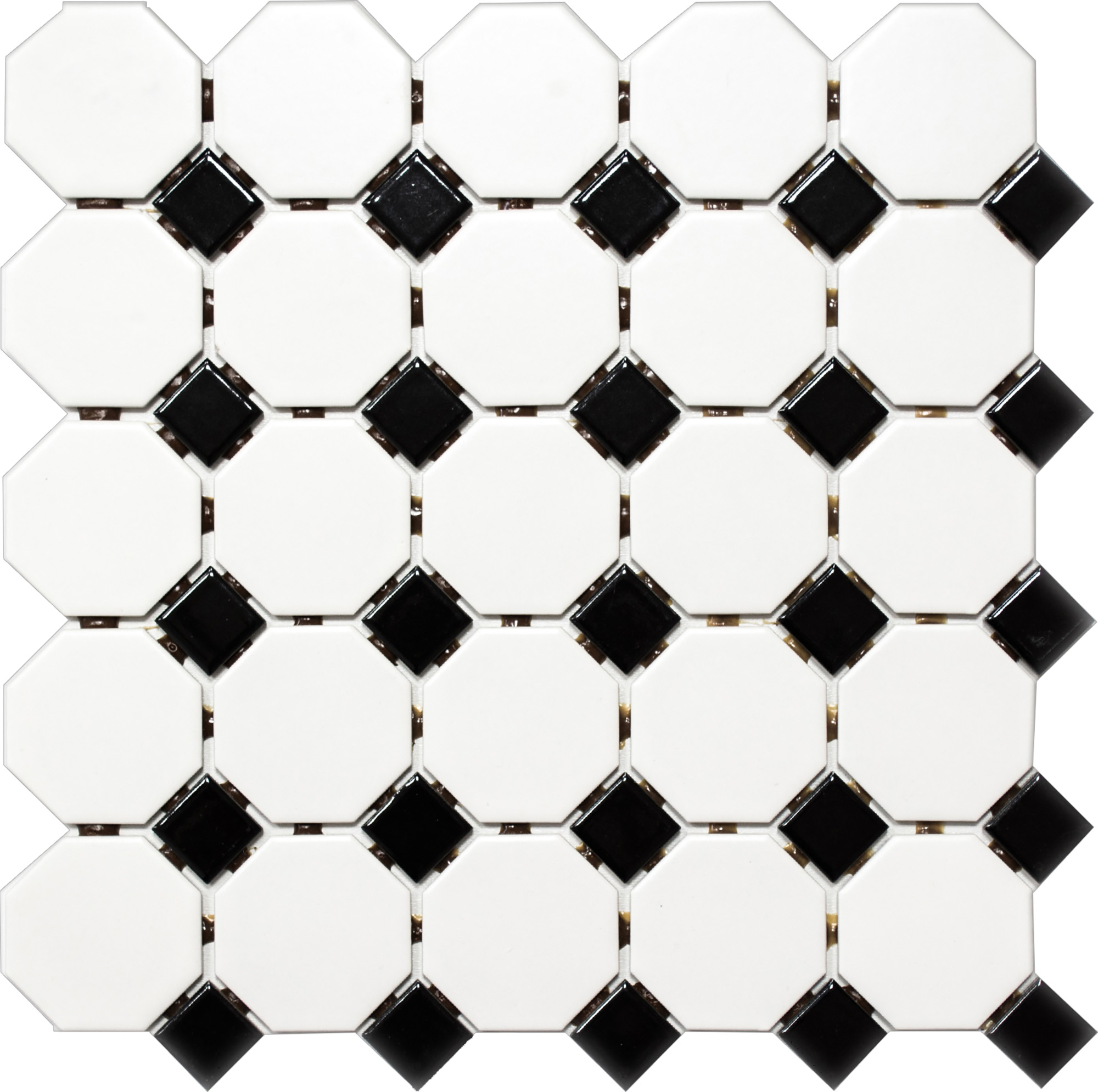 OCTAG468, Octagon, Valkoinen, mosaiiikki,lattia,pakkasenkesto