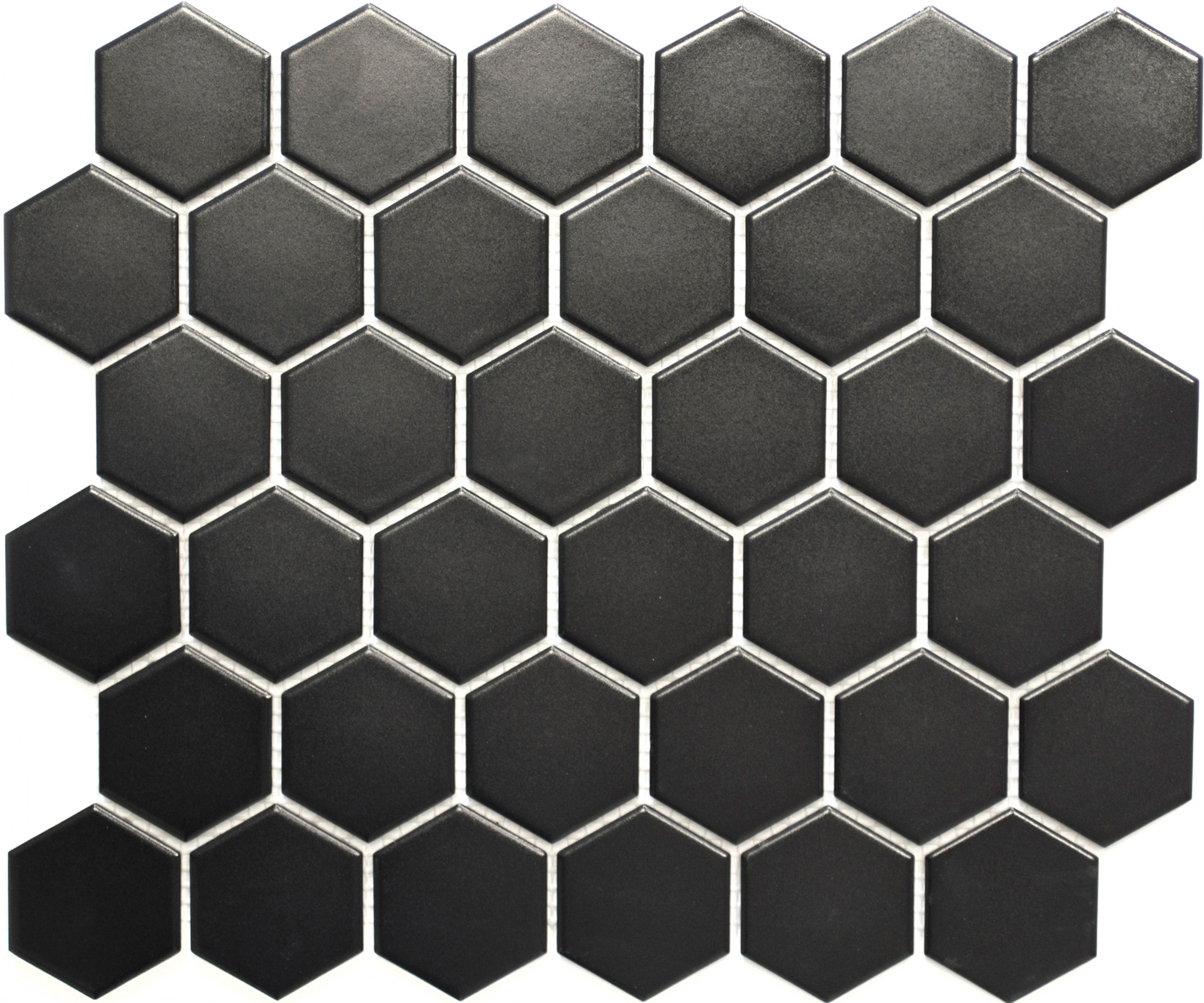 HX095[OUTLET], Hexagon, Musta, mosaiiikki,lattia,pakkasenkesto