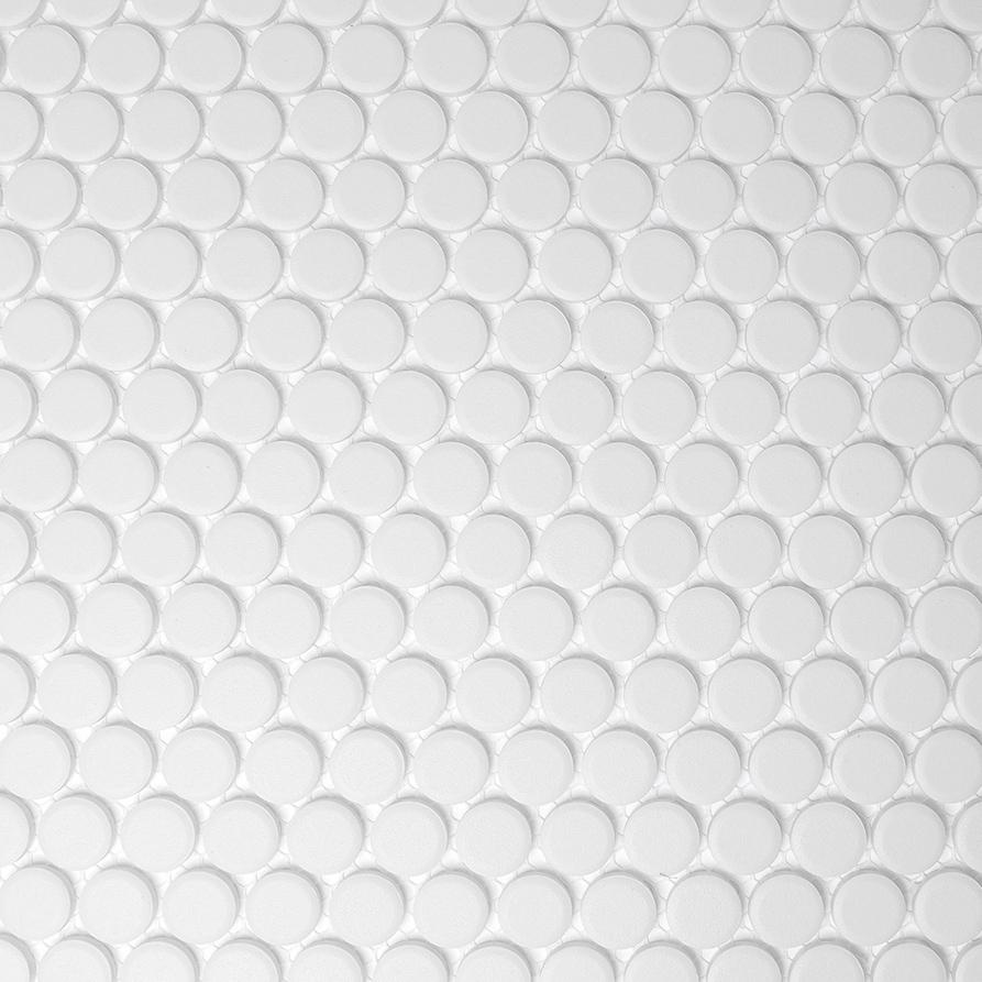 KNOPF100, Pennimosaiikki, Valkoinen, lattia,mosaiikki